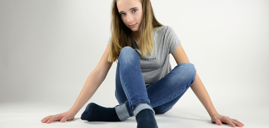 Teenager sitzend